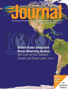 Marine Technology Society Journal - print + online /including 11 years of archives/